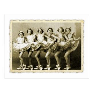 Vintage Retro Women Dancing Queens Girls Postcard