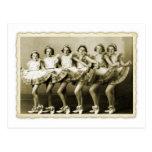 Vintage Retro Women Dancing Queens Girls Postcards