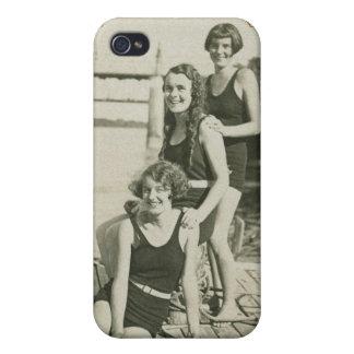 Vintage Retro Women Deco Women Swimmers Case For iPhone 4