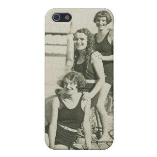 Vintage Retro Women Deco Women Swimmers iPhone SE/5/5s Cover