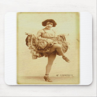 Vintage Retro Women French Can-Can Dancer Woman Mousepad