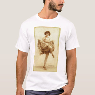 Vintage Retro Women French Can-Can Dancer Woman T-Shirt