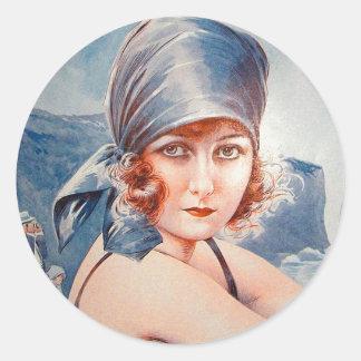 Vintage Retro Women French Vie Parisienne Flapper Stickers