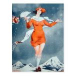 Vintage Retro Women French Vie Parisienne Post Cards
