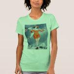 Vintage Retro Women French Vie Parisienne T Shirt
