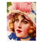 Vintage Retro Women Gibson Girl Illustration Postcards