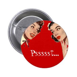 Vintage Retro Women Gossips 2 Inch Round Button