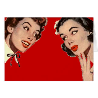 Vintage Retro Women Gossips Card