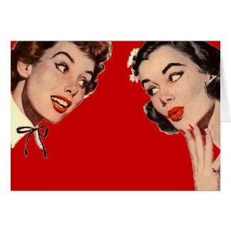 Vintage Retro Women Gossips Cards