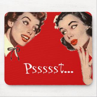 Vintage Retro Women Gossips Mouse Pad