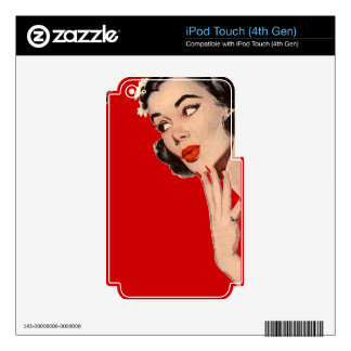 Vintage Retro Women Gossips Skins For iPod Touch 4G