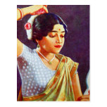 Vintage Retro Women India Indian Women Beauty Post Cards
