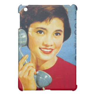 Vintage Retro Women Japan Advertisment Telephone iPad Mini Cover