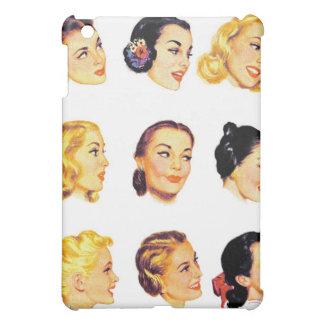 Vintage Retro Women Kitsch 50s Head Portraits Case For The iPad Mini