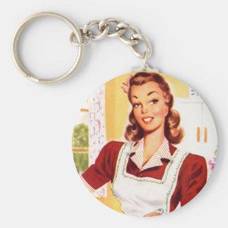 Vintage Retro Women Kitsch 50s Kitchen Magic Key Chain