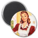 Vintage Retro Women Kitsch 50s Kitchen Magic Refrigerator Magnets