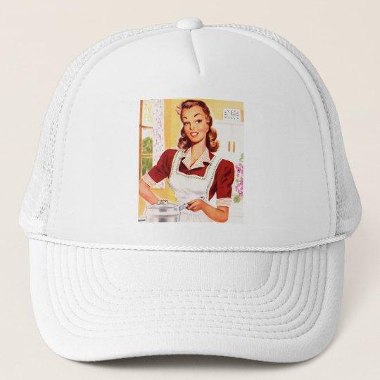 Vintage Retro Women Kitsch 50s Kitchen Magic Trucker Hat
