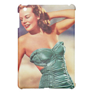Vintage Retro Women Kitsch Forties Swimsuit Girl iPad Mini Covers