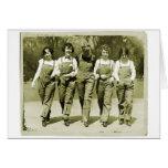 Vintage Retro Women Kitsch Jeans Overalls Girls Cards