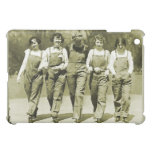 Vintage Retro Women Kitsch Jeans Overalls Girls iPad Mini Cover