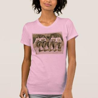 Vintage Retro Women Kitsch Jeans Overalls Girls T-Shirt