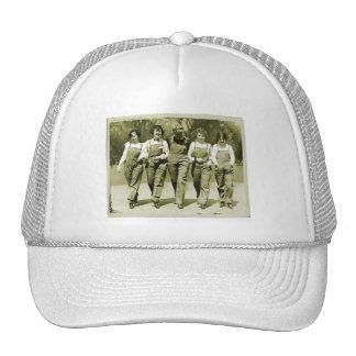 Vintage Retro Women Kitsch Jeans Overalls Girls Trucker Hat