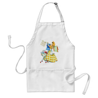 Vintage Retro Women Kitsch Laundry Day Adult Apron