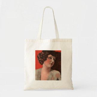 Vintage Retro Women Magazine 20s Portrait Woman Tote Bag