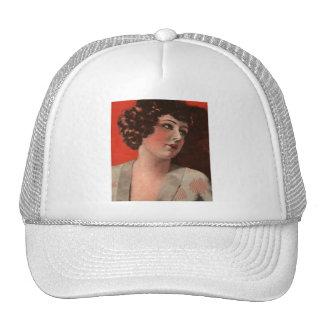 Vintage Retro Women Magazine 20s Portrait Woman Trucker Hat
