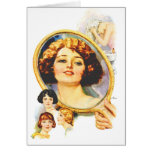 Vintage Retro Women Magazine 20s Shampoo Ad Card