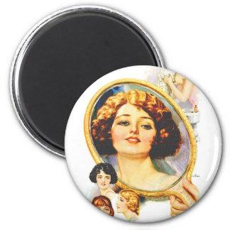 Vintage Retro Women Magazine 20s Shampoo Ad Magnet