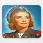 Vintage Retro Women Military los U.S. Nurse Corp Alfombrillas De Raton