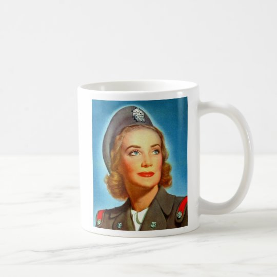 Vintage Retro Women Military U.S. Nurse Corp Coffee Mug