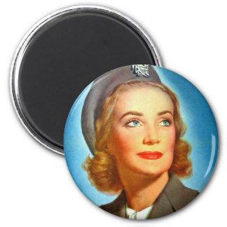 Vintage Retro Women Military U.S. Nurse Corp Magnet