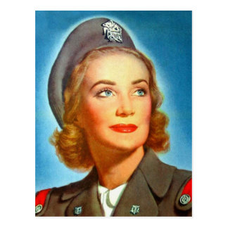Vintage Retro Women Military U.S. Nurse Corp Postcard