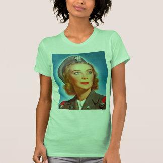 Vintage Retro Women Military U.S. Nurse Corp T-shirt