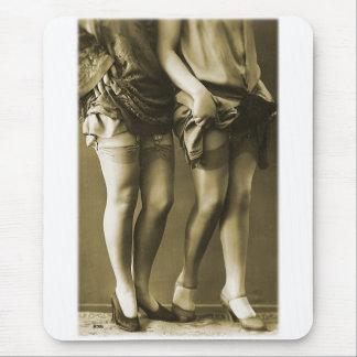 Vintage Retro Women Photo She's Got Legs Mouse Pad