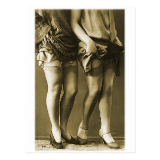 Vintage Retro Women Photo She's Got Legs Postcard