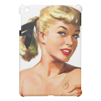 Vintage Retro Women Pin Up Bathing Beauty Portrait iPad Mini Cases
