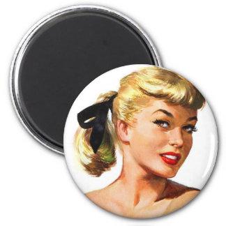 Vintage Retro Women Pin Up Bathing Beauty Portrait Magnet