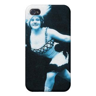 Vintage Retro Women Rollerskating Queen Case For iPhone 4