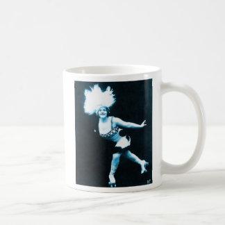 Vintage Retro Women Rollerskating Queen Coffee Mug