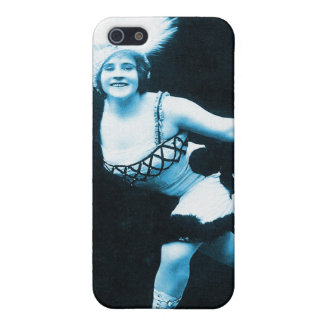 Vintage Retro Women Rollerskating Queen Cover For iPhone SE/5/5s