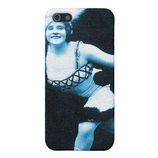 Vintage Retro Women Rollerskating Queen iPhone SE/5/5s Cover