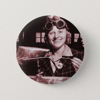Vintage Retro Women Rosie the Riveter's Sister Button
