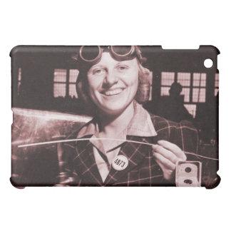 Vintage Retro Women Rosie the Riveter's Sister iPad Mini Cases
