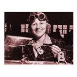 Vintage Retro Women Rosie the Riveter's Sister Post Card