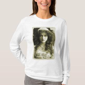 Vintage Retro Women Sepia Portrait 20s Woman T-Shirt