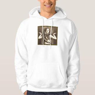 Vintage Retro Women Sideshow Snake Charmer Hooded Sweatshirt