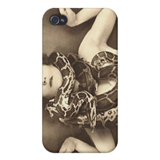 Vintage Retro Women Sideshow Snake Charmer iPhone 4/4S Case
